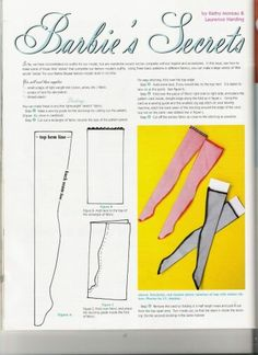 Stockings for a doll.  I,could have sworn I already pinned this.  There are patterns for gloves and panties immediately following this on the website.