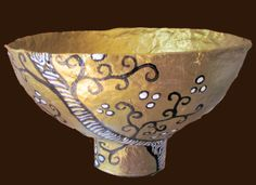 gold paper mache bowl. simple and fun to make.