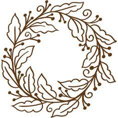 Silhouette Design Store - View Design #218304: fall wreath