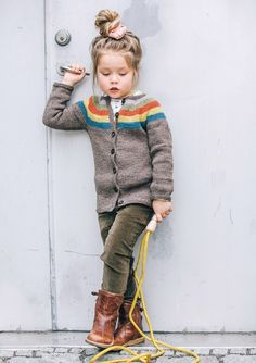 Boots, Cardi and velvet trousers Kids Knitting Patterns, Knitting For Kids, Diva Fashion, Fashion Kids, Baby Boy Outfits, Kids Outfits, Winter Kids, Stylish Kids, My Baby Girl