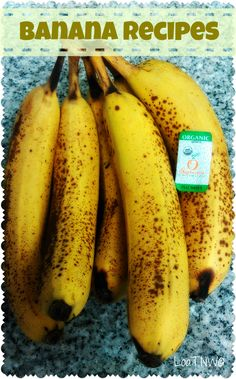 Over ripened bananas driving you bananas? Two recipes to help!
