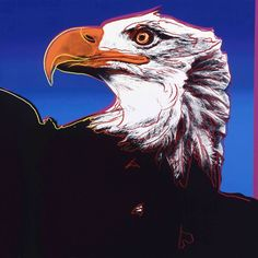 Andy Warhol - Bald Eagle, 1983 - Andy Warhol's endangered animals. Warhol, ever the animal-lover, was approached by environmental activists in the 80s to make a set of rainbow silkscreens that showed the horrifying numbers of near-extinct animals around the world. Get ready to enter Andy's ark.