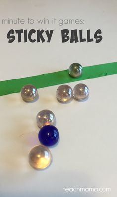 minute to win it games sticky balls | minute to win it games for kids and family | get kids moving and working those fine motor and gross motor skills all in the name of fun! --> also great for class parties! from teachmama.com