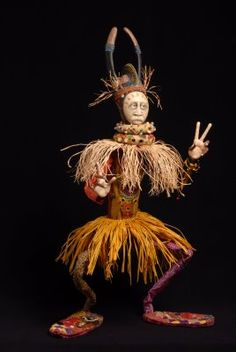 Another of Christopher Malone's figures as posted on Barb Kobe's The Art of Healing Dolls blog