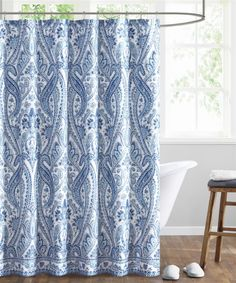 Echo Shower Curtain Stripe