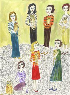 Girls who like stripes and orange tabbies | vivienne strauss