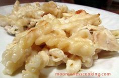 Yum // Everyone gets to choose a meal each week and since my daughter had her wisdom teeth removed, she chose this soft foods choice. Chicken Alfredo Pasta is perfect comfort food when you aren't f...