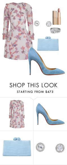 """Untitled #25"" by ashleydomenique ❤ liked on Polyvore featuring The 2nd Skin Co., Christian Louboutin, Nancy Gonzalez and Charlotte Tilbury"