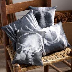 Decoupage - X-Ray Pillows Halloween Decoration Idea