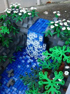 Waterfall Landscape: A LEGO® creation by Thoy Bradley : MOCpages.com
