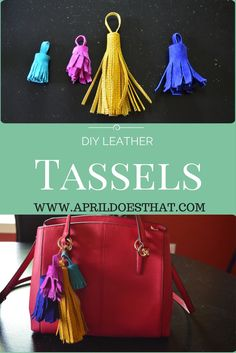 Make a leather tassel for your bag or other craft projects.