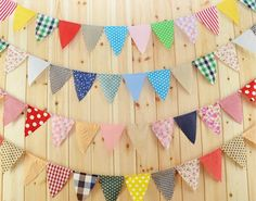 40% OFF Sale 5 - 11 FT Strands of Fabric Bunting Garland 55 FT / I Use a Hodge Podge of What I Have On Hand / Fun Vintage Inspired Wedding
