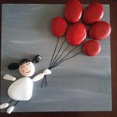 74 Likes, 1 Comments - Hülya Tezyılmaz (Hulyani Ki - Saint Valentin Stone Crafts, Rock Crafts, Fun Crafts, Diy And Crafts, Crafts For Kids, Arts And Crafts, Pebble Painting, Stone Painting, Pebble Art Family