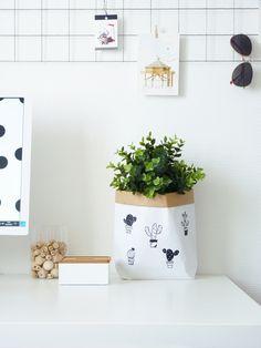 Idées de cache-pot pour offrir une plante : diy sac en papier