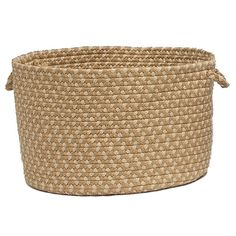 Colonial Mills Brook Farm Braided Utility Basket Color: Tea Stained