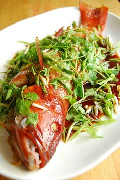 LAPU-LAPU WITH CANTONESE STYLE STEAMED FISH SAUCE