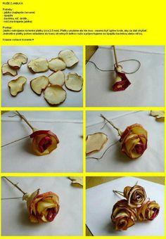 ruže z jablka