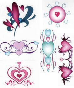 Decorative Hearts Tattoos Dover Publications