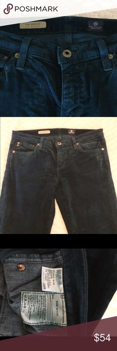 AG Navy Corduroy Pants AG Boot cut corduroy pants.  'The Steve' Slim Straight style in a size 28R AG Adriano Goldschmied Jeans Straight Leg