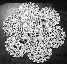 Irish Lace Doily From Umbria, Italy - Petals to Picots. No pattern