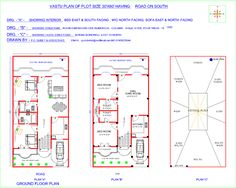 north facing house plans elegant north facing house plan according vastu j l experience pictures Duplex House Plans, Dream House Plans, Small House Plans, House Floor Plans, North Facing House, West Facing House, The Plan, How To Plan, Plan Design