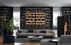 For those who collect, display areas might be the most important part of a home design. The two homes highlighted in this post belong to collectors of books and
