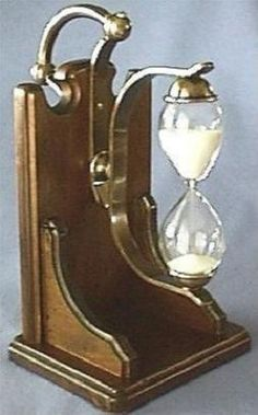 Consultation Hourglass, With Half Hour Swing-Over Sand Timer Mantle Clock, Clock Decor, Sand Glass, Glass Art, Hourglass Sand Timer, Sand Timers, Antique Clocks, Vintage Table, Alarm Clock