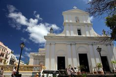 Cathedral of San Juan Bautista, San Juan, Puerto Rico. The cathedral houses the remains of Ponce de Leon.