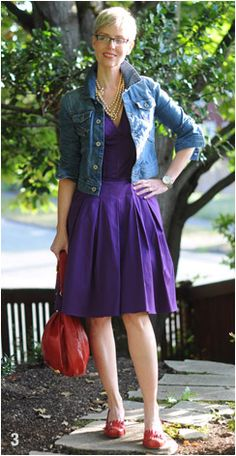 Tips for dressing down an outfit (fancy dress with a denim jacket and flats)