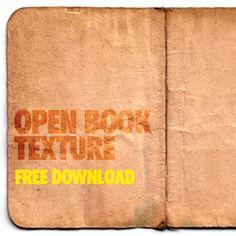 アフリカの古い古文書を開いてスキャンした無料テクスチャ「Open Book Texture」