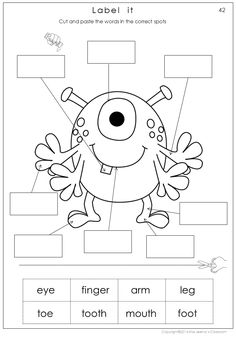 $ My body math and literacy worksheets includes 38 worksheets in color and 38 worksheets in black and white, my body puzzles and pyramid spelling cards