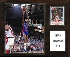 NBA Detroit Pistons Isiah Thomas Player Plaque 12 x 15Inch *** Continue to the product at the image link.