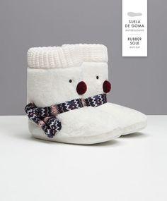 Botte d'intérieur bonhomme de neige - OYSHO