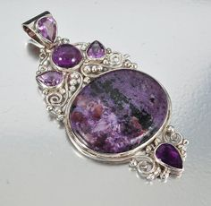 Sterling Silver Amethyst Necklace Pendant