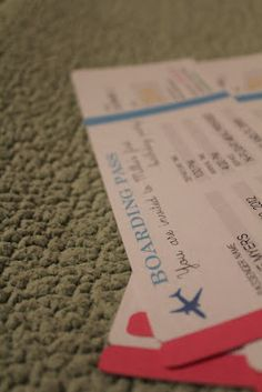 Airplane Ticket Invitation DIY with template files