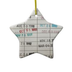 Vintage Library Due Date Cards Christmas Ornaments - Clever!