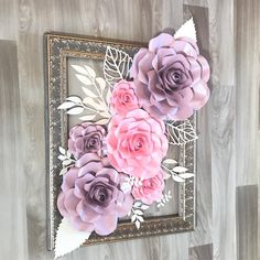 Paper flower frame decor inspiration with paper flower paper flower backdrop paper roses