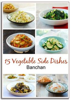 A collection of 15 delicious Korean vegetable side dishes (banchan) you can make at home! Here's a collection of easy and healthy Korean vegetable side Taco Side Dishes, Mexican Side Dishes, Summer Side Dishes, Side Dishes Easy, Food Dishes, Keto Cabbage Recipe, Cabbage Recipes, Asian Chicken Recipes, Chicken Parmesan Recipes