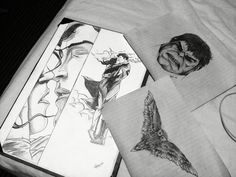 Štěpán Urbánek pucture drawing hulk superman owl