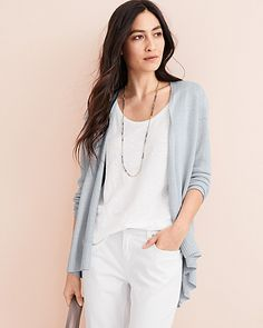 Shop women's linen clothing at the Garnet Hill Linen Shop. Our silky soft French linen clothing is spun of the highest quality flax fibers handpicked in France. Womens Linen Clothing, Linen Shop, Natural Clothing, Cardigan Outfits, Ugg, Fashion Over, Eileen Fisher, Cardigans For Women, Spring Summer Fashion