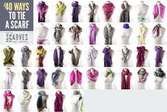 40 ways to tue a scarf