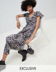 e63a44c699a Lily   Lionel exclusive leopard wrap maxi dress at asos.com