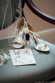 Nude heeled wedding sandals with jeweled heels | wedding shoe ideas {Sarah Eberwein Photography}