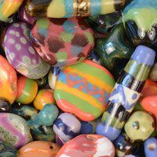 Kazuri ceramic Beads Kenya for jewelry making from Antelope Beads