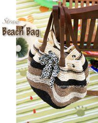 Hit the beach in style this summer with this Straw Beach Bag. Use rafia yarn to complete this #crochet pattern; it's softer than you might imagine and is surprisingly easy to crochet with. This bag is roomy enough to fit all your beach essentials!