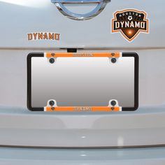 houston dynamo thin rim license plate frame and decal set 899