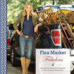 Booktopia has Flea Market Fabulous, Designing Gorgeous Rooms with Vintage Treasures by Lara Spencer. Buy a discounted Paperback with Flaps on Inside & Back Covers of Flea Market Fabulous online from Australia's leading online bookstore. Shabby Chic Vintage, Style Vintage, Vintage Design, Vintage Home Decor, 1950s Decor, Vintage Ideas, French Vintage, Lara Spencer, Flea Market Flips