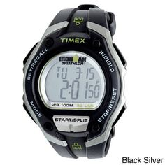 @Overstock.com - Timex Men's T5K529  Ironman Traditional 30-Lap Oversize Watch - This Timex men's Sport Ironman timepiece features a dual-hued resin case and a black resin strap. A chronograph function coupled with Indiglo night light and a digital movement make this watch the ideal accessory.  http://www.overstock.com/Jewelry-Watches/Timex-Mens-T5K529-Ironman-Traditional-30-Lap-Oversize-Watch/6095375/product.html?CID=214117 $33.99