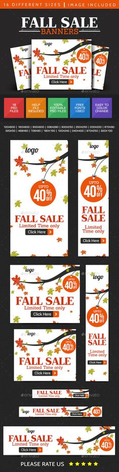 Fall Sale Banner Design Template PSD | Buy and Download: http://graphicriver.net/item/fall-sale-banner-design/8923917?WT.ac=category_thumb&WT.z_author=doto&ref=ksioks