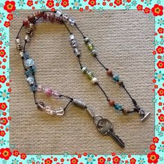 Beaded Name Tag Holder for Nurse😷😇🌟SALE!!! This is for a Beaded name tag holder good quality beautiful beads also good for holding keys worn as a necklace Jewelry Necklaces